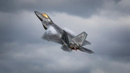 US Air Force F22 Raptor at the Royal International Air Tattoo 2017